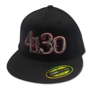 4130 Stacked FlexFit 210 (Grey/Red) - 131010007 - Hats - Accessories