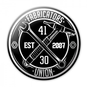 "Fabricators Union Sticker (Black/White) 6"" - 131220043-31 - Accessories"