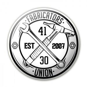 """Fabricators Union Sticker (White/Black) 6"""" - 131220043-30 - Accessories"""