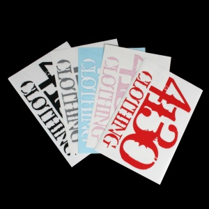 "4130 Clothing Stacked Logo, 9"" Wide Die Cut - 131220009 - Die-Cut Stickers - Accessories"