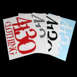 "4130 Clothing Stacked Logo, 24"" Wide Die Cut - 131220011"
