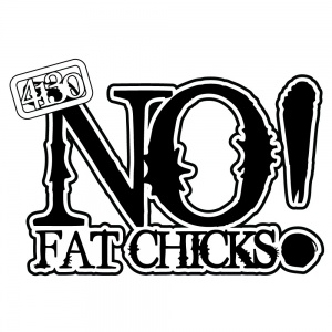 "NO Fat Chicks! 14"" Wide Vinyl Sticker - 131220003"